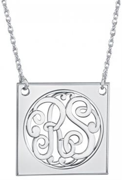 Alison & Ivy - Classic Square 2 Initial Monogram Necklace 25mm - Customizable Jewelry Collection