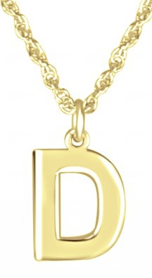 Alison & Ivy - Small Block Initial Necklace 10mm - Customizable Jewelry Collection
