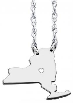 Alison & Ivy - Home Is Where The Heart Is State Necklace 13mm - Customizable Jewelry Collection