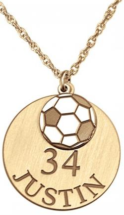 Alison & Ivy - Double Soccer Ball Necklace 20mm - Customizable Jewelry Collection