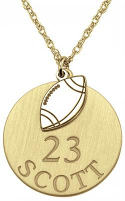 Alison & Ivy - Double Football Necklace 20mm - Customizable Jewelry Collection