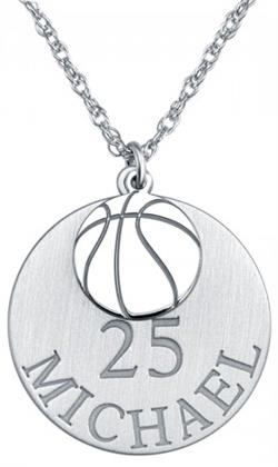 Alison & Ivy - Double Basketball Necklace 20mm - Customizable Jewelry Collection