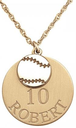 Alison & Ivy - Double Baseball Necklace 20mm - Customizable Jewelry Collection