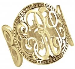 Alison & Ivy - Classic Scroll Design Band Ring 18mm - Customizable Jewelry Collection