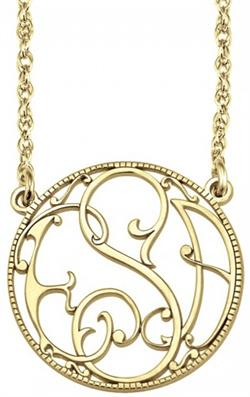 Alison & Ivy - Ivy Halo Bordered Monogram Necklace 20mm - Customizable Jewelry Collection