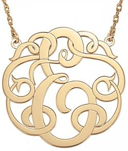 Alison & Ivy - Single Initial Monogram Necklace 25mm - Customizable Jewelry Collection