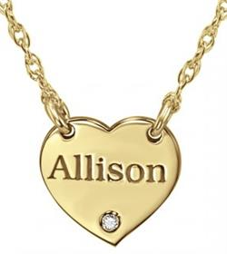 Alison & Ivy - Mini Heart w/ Name & Birthstone Accent Necklace - Customizable Jewelry Collection