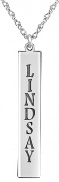 Alison & Ivy - Vertical Bar Name Necklace 30x5mm - Customizable Jewelry Collection