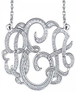 Alison & Ivy - 3 Initial Multi-Diamond Classic Monogram Necklace - Customizable Jewelry Collection