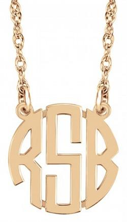 Alison & Ivy - Mini (10mm) Block Monogram Necklace - Customizable Jewelry Collection