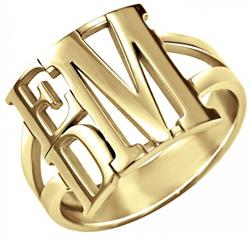 Alison & Ivy - Stacked Monogram Ring 13mm - Customizable Jewelry Collection