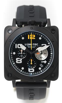 Lum-Tec Watch - Bull42 - A22 Mens Black Stainless Steel - DISCONTINUED