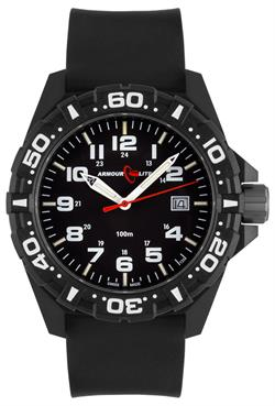 ArmourLite Tritium Watch - Operator Series AL1501 White Numbers Silicone Band Watch