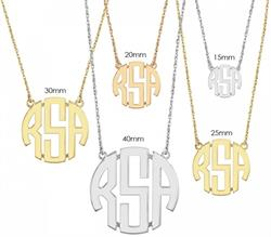 Alison & Ivy - Block Monogram Necklace - Customizable Jewelry Collection