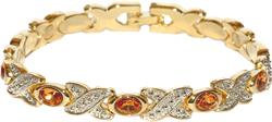 Simulated Citrine (November) - Magnetic Therapy Bracelet (BS-11)