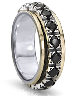 BOUNDLESS (MR2778BL) - Eternal Jewel Collection - MeditationRing (Spinner Ring)
