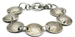 Buffalo Nickel Coin Magnetic Bracelet Handmade by Maria Lucia