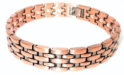 Copper Basketweave - Magnetic Therapy Bracelet (CLN-5)