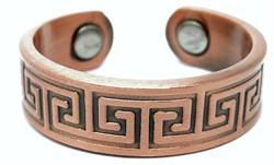Copper Mystic Patterns - Magnetic Therapy Ring (CR-10)