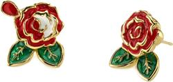 Disney Gold-Plated Brass Alice In Wonderland Painting the Roses Stud Earrings