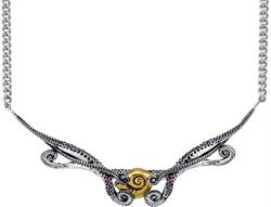16 + 2 Disney Two-Tone Sterling Silver The Little Mermaid Tentacle Collar Necklace