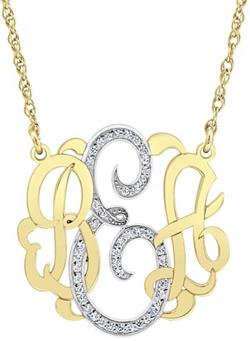 Alison & Ivy - Multi-Diamond Classic Monogram Necklace - Customizable Jewelry Collection