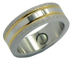 Starglitter Stainless Steel Magnetic Therapy Ring (SRQ4)