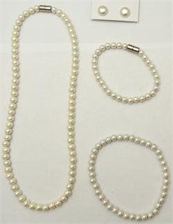 Elegance - Simulated Pearl Coated Magnetic Therapy Jewelry Collection - SAVE $10.00!