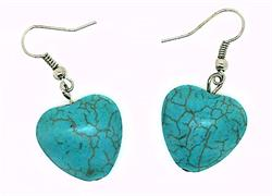 FREE GIFT - Simulated Turquoise Heart Earrings
