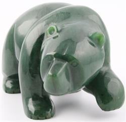 Jade Walking Bear Figurine (Multiple Sizes Available) (HNW-054)