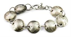 Indian Head + Buffalo Nickel Coin Magnetic Bracelet Handmade by Maria Lucia
