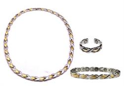 Inverse XOXO Set - Magnetic Therapy Necklace, Bracelet & Ring Set - DISCONTINUED