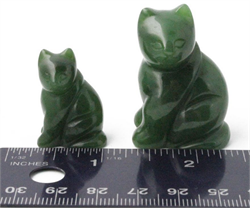 Jade Sitting Cat Figurine