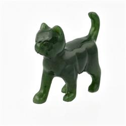 Jade Walking Cat Figurine (HNW-189)