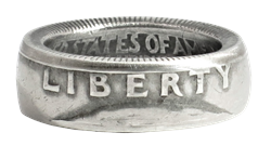 Liberty Quarter Dollar Coin Ring - Handmade by Maria Lucia