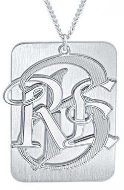 Alison & Ivy - Mens Dogtag Monogram Necklace - Customizable Jewelry Collection