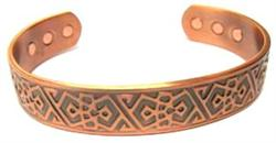 Aztec - Solid Copper Magnetic Therapy Cuff Bracelet (MBG-027)