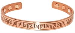 Enigma - Solid Copper Magnetic Therapy Cuff Bracelet (MBG-035)