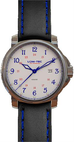 Lum-Tec Watch - RR1 - 43mm Automatic Mens Black & Blue w/ 2 Straps - LIMITED STOCK