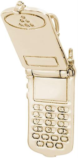 Flip Phone Charm (Choose Metal) by Rembrandt
