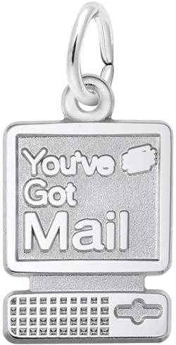 Youve Got Mail Computer Charm (Choose Metal) by Rembrandt