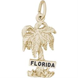 Florida Palm Charm (Choose Metal) by Rembrandt