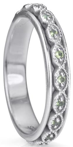 RENEW (MR4408) - Stackable Collection - with Semi-Precious Peridot - MeditationRing (Spinner Ring)