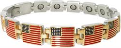 Golden Flags - Stainless Steel Magnetic Therapy Bracelet