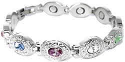 Exquisite Medley Stainless Steel - Magnetic Therapy Bracelet (HL0611GSM7-S)