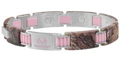 Sabona Realtree PinkLink Camo Magnetic - Ladies Bracelet