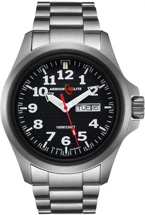ArmourLite Tritium Watch - Officer Series AL811 - Silver with Black Dial