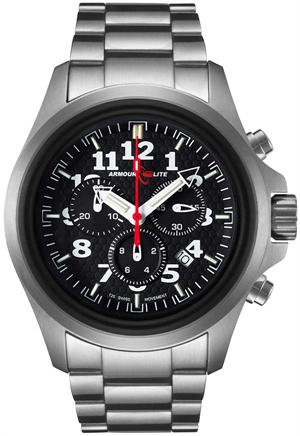 ArmourLite Tritium Watch - Officer Series Chronograph AL812 - Silver with Black Dial - DISCONTINUED