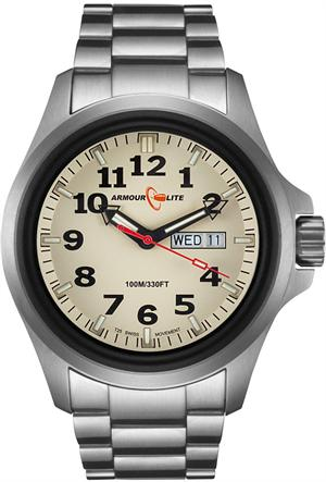 ArmourLite Tritium Watch - Officer Series AL815 - Silver with White Dial
