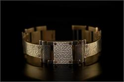 Brass Textured Design WatchCraft (R) Handmade Bracelet (B11)